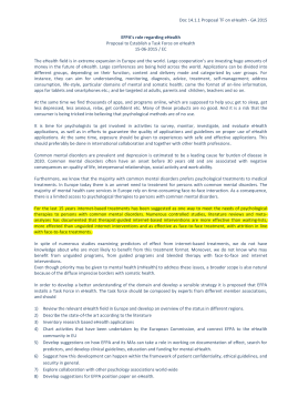 Doc 14.1.1 Proposal TF on eHealth - GA 2015 EFPA`s