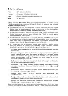 10 Nisan 2015 Ödeme Sistemleri Çalışma