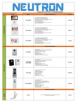 Neutron IP Diafon Ocak 2016 Fiyat Listesi