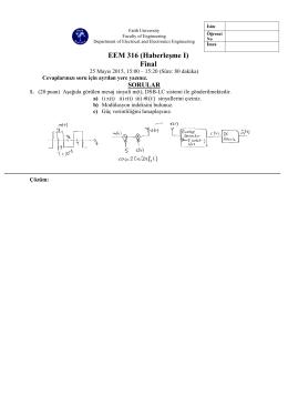 EEM 316 (Haberleşme I) Final