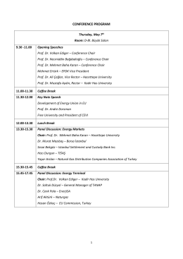CONFERENCE PROGRAM - Center for Energy and Value Issues