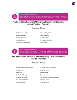 The International Journal of Interdisciplinary Social