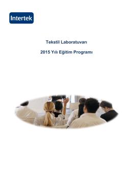 Tekstil Laboratuvarı Eğitim İçerikleri 2015