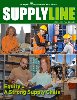 Equity = A Strong Supply Chain