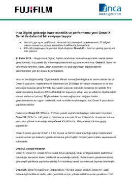 Inca Digital geleceğe hazır esneklik ve performansı yeni Onset X