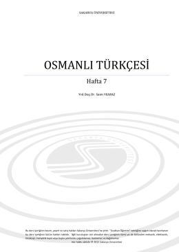 Osmanlı Türkçesinde İmla Kuralları
