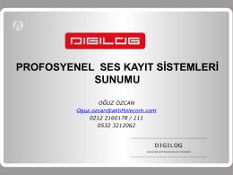 digital ses kayıt sistemleri