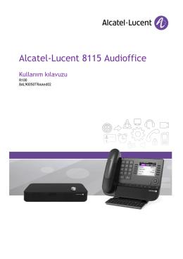 1. Alcatel-Lucent 8115 Audioffice cihazınızı keşfedin