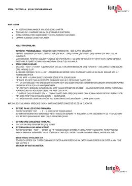 PİMA CAPTAIN -6 KOLAY PROGRAMLAMA