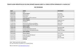 8 Kasım 2015-EEG programı - Türkiye Klinik Nörofizyoloji EEG