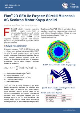 Flux 2D SEA ile Fırçasız Sürekli Mıknatıslı AC Senkron