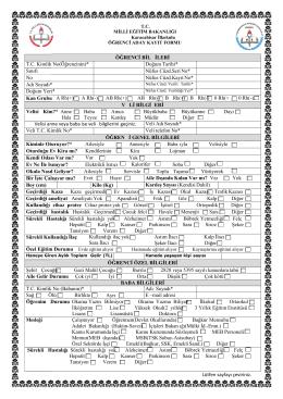 aday kayıt formunu