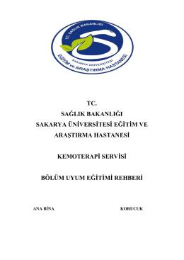 Kemoterapi Servisi - Sakarya Eğitim ve Araştırma Hastanesi