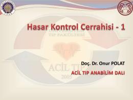 Hasar Kontrol Cerrahisi – 1