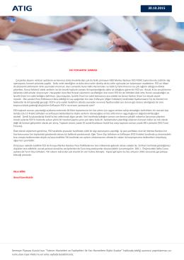 """Sermaye Piyasası Kurulu`nun """"Yatırım Hizmetleri ve Faaliyetleri ile"""