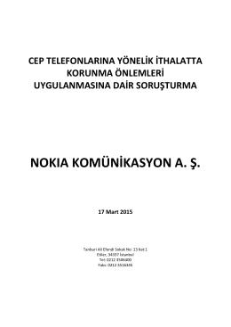 NOKIA KOMÜNİKASYON A. Ş.