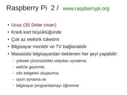Raspberry Pi 2 / www.raspberrypi.org