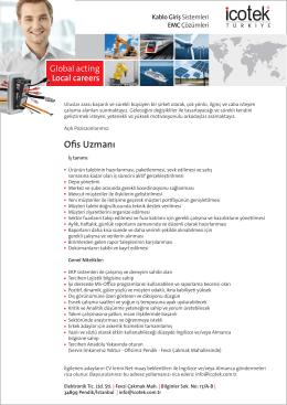 PDF indir iş ilanı