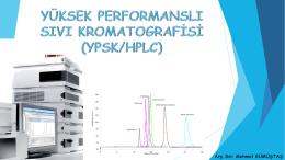 yüksek performanslı sıvı kromatografisi