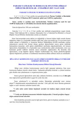 PYBS Dikkat Edilecek Hususlar - Denizli Milli Eğitim Müdürlüğü