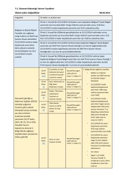 T.C. Ekonomi Bakanlığı Yatırım Teşvikleri Dikkat Çekici Değişiklikler