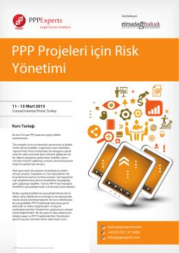 PPP Projeleri için Risk Yönetimi