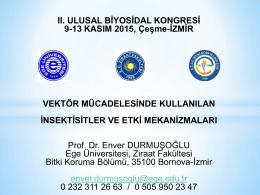Prof. Dr. Enver DURMUŞOĞLU - uluslararası katılımlı 2. ulusal