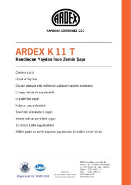 Kendinden Yayılan İnce Zemin Şapı ARDEX K11 T