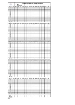 145 YS Minibar checklist
