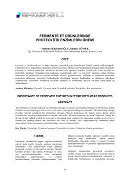 fermente et ürünlerinde proteolitik enzimlerin önemi