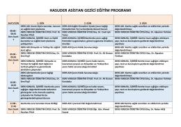 hasuder asistan gezici eğitim programı