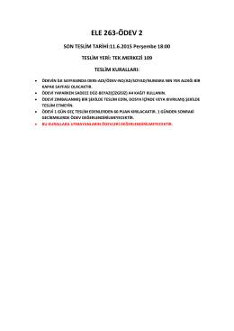 BİL 264/ELE 263 Ödev 2