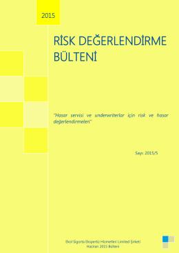 Haziran 2015 İş Güvenliği Uygulamaları