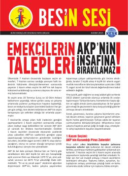 1 Kasım Seçimi: AKP`nin Kazandığı Pirus Zaferidir!