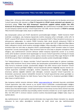 Filbox Yalın Adsl Kampanyası Taahhütnamesi