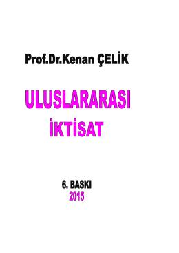 Önsöz - Prof.Dr.Kenan ÇELİK / Prof.Dr.Kenan ÇELİK