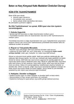 Beton ve Harç Kimyasal Katkı Maddeleri Üreticileri Derneği
