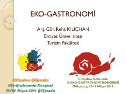 Eko-Gastronomi Dersi Sunumu