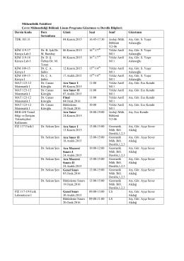ders sinav tarihleri lisans guz 15-16