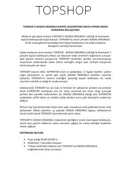 TOPSHOP X ADIDAS ORIGINALS KAPSÜL KOLEKSİYONU