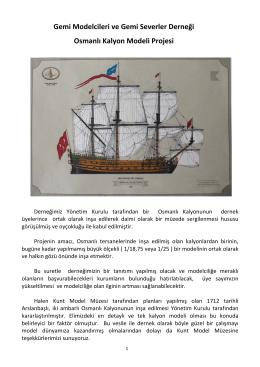 Gemi Modelcileri ve Gemi Severler Derneği Osmanlı Kalyon Modeli