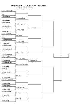 cumhuriyet`in çocukları tenis turnuvası