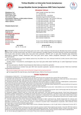 RESUL ÇELEBİ - Türkiye Karate Federasyonu