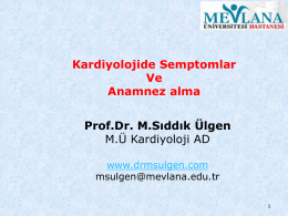 Kardiyoloji de semptomatoloji 2015