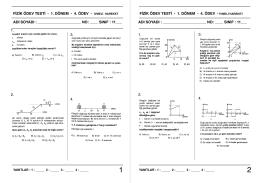 Ödev-4 İvmeli Hareket