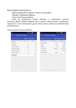 Bay(t) Mobil Android Server -Hareket Toplamları