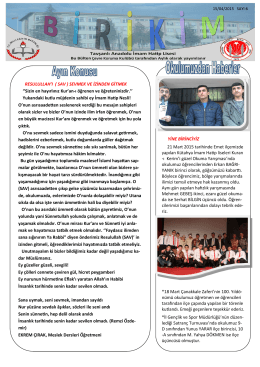 2015 Nisan Bülteni - Tavşanlı Anadolu İmam Hatip Lisesi