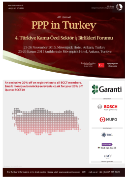 4th PPP in Turkey Forum 2015