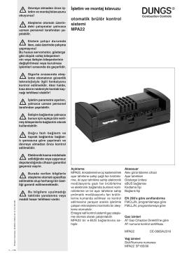 İşletim ve montaj kılavuzu otomatik brülör kontrol sistemi