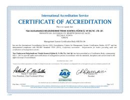 MSCB-106 -- TQA Uluslararası Belgelendirme Teknik Kontrol Eğitim